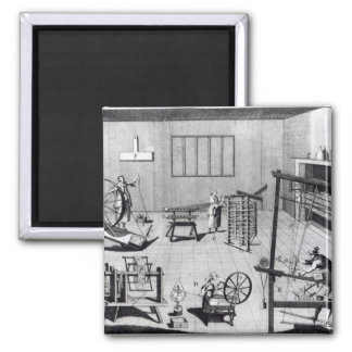 The Second Plate of the Woollen Manufacture 2 Inch Square Magnet