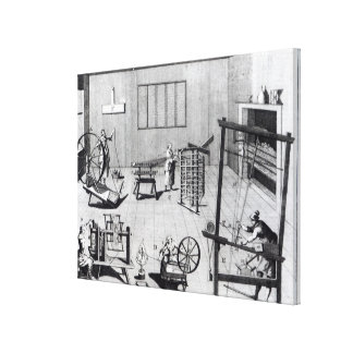 The Second Plate of the Woollen Manufacture Canvas Print