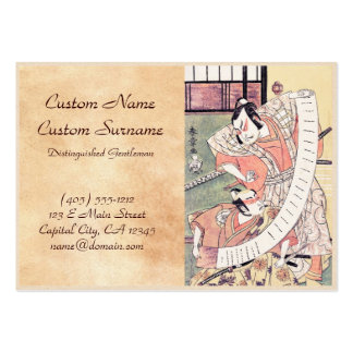 The Second Sakata Hangoro as a Daimyo Attired Business Card Template