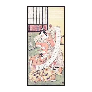 The Second Sakata Hangoro as a Daimyo Attired Canvas Print