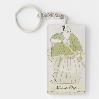 The Second Sawamura Sojuro in the Role of Yenya Keychain