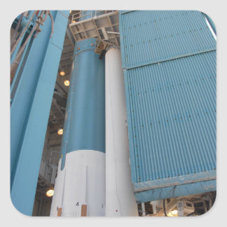 The second solid rocket motor is moved into pla square sticker