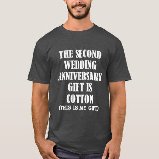 The second wedding anniversary gift is cotton tee
