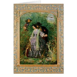 The Secret, 1858 Greeting Card