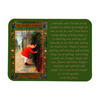 The Secret Garden Book Cover & Quote Rectangular Photo Magnet