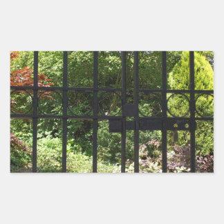 The Secret Garden Rectangular Sticker