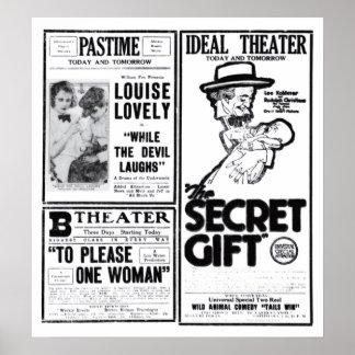 'The Secret Gift' 1920 vintage movie ad poster