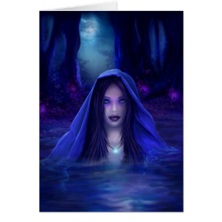 The secret lake - pagan, wiccan fantasy card