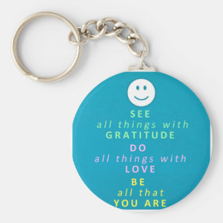 The Secret of Happiness Basic Round Button Keychain