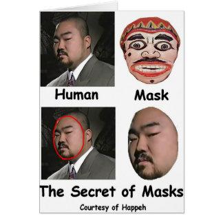 The Secret of Masks Card