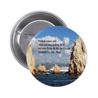 The secret path to wisdom 2 inch round button