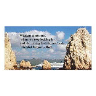 The secret path to wisdom photo card