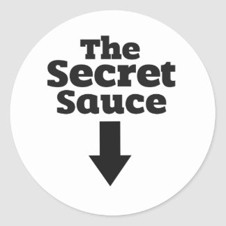 The Secret Sauce Classic Round Sticker