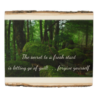 The Secret To A Fresh  Start Wood Panel