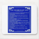 THE SECRETS OF LIFE By BERNARD LEVINE Mouse Pads