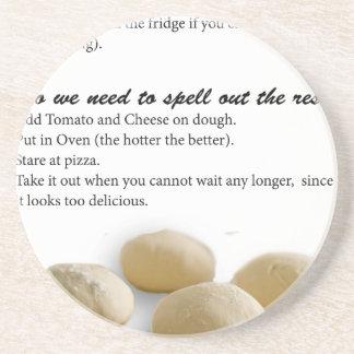 The Secrets of Pizza Sandstone Coaster