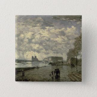 The Seine and Notre Dame Button