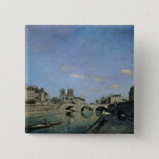 The Seine and Notre Dame in Paris, 1864 Button