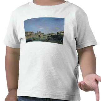 The Seine and Notre Dame in Paris, 1864 T Shirt