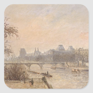 The Seine and the Louvre, 1903 Square Sticker