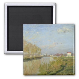 The Seine at Argenteuil, 1873 2 Inch Square Magnet