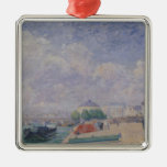 The Seine at Bercy, 1885 Christmas Ornament
