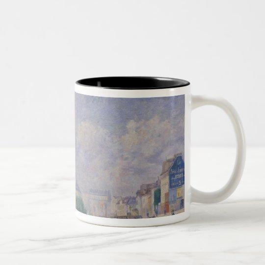The Seine at Bercy, 1885 Two-Tone Coffee Mug