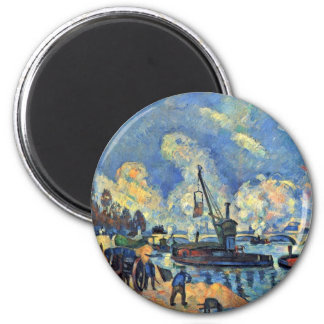 The Seine At Bercy Paintings After Armand Guillaum Fridge Magnets