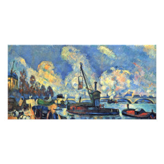 The Seine At Bercy Paintings After Armand Guillaum Customized Photo Card