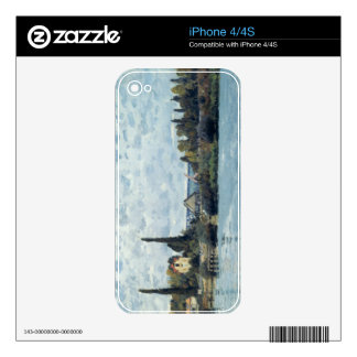 The Seine at Bougival, 1873 Decals For The iPhone 4S