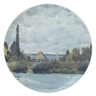 The Seine at Bougival, 1873 Dinner Plate