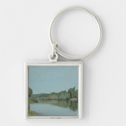 The Seine at Bougival, 1873 Keychain