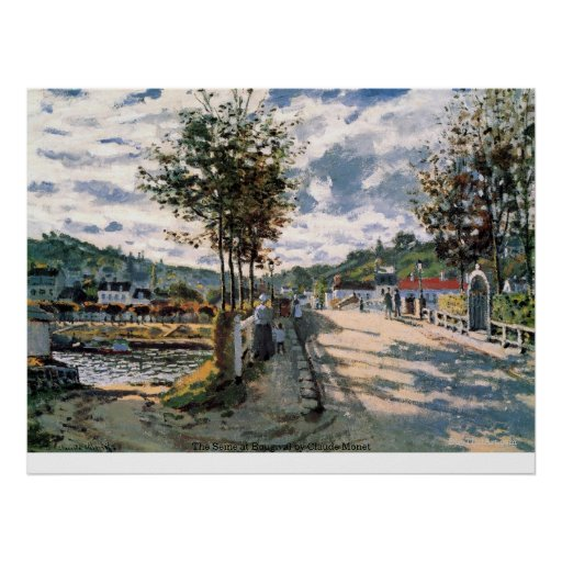The Seine at Bougival by Claude Monet Print