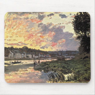 The Seine at Bougival in the Evening (1870) Mouse Pad