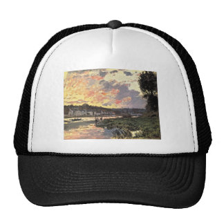The Seine at Bougival in the Evening (1870) Trucker Hat