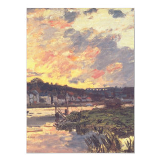 The Seine at Bougival in the Evening Card