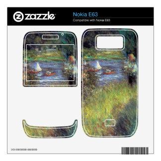 The Seine at Chatou (Detail) by Pierre Renoir Skin For The Nokia E63