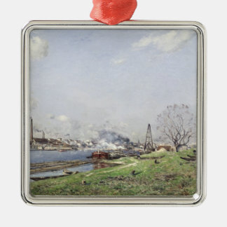 The Seine at Conflans-Charenton, 1892 Metal Ornament