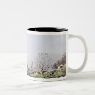 The Seine at Conflans-Charenton, 1892 Two-Tone Coffee Mug