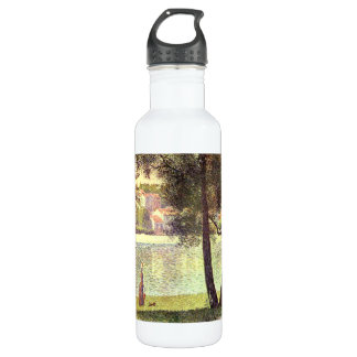 The Seine at Courbevoie by Georges Seurat 24oz Water Bottle