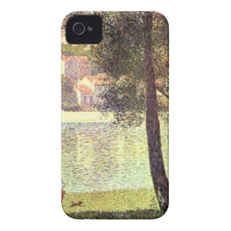 The Seine at Courbevoie by Georges Seurat iPhone 4 Cover