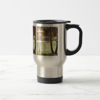 The Seine at Courbevoie by Georges Seurat Travel Mug