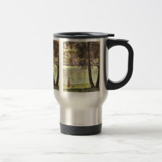 The Seine At Courbevoie By Seurat Georges Coffee Mugs