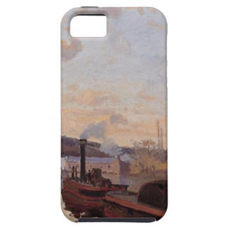 The Seine at Port Marly by Camille Pissarro iPhone SE/5/5s Case