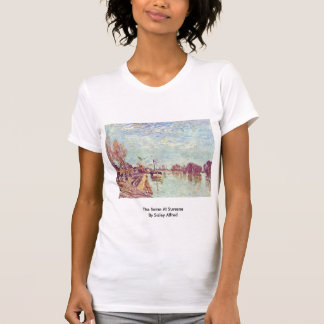 The Seine At Suresne By Sisley Alfred T-shirt
