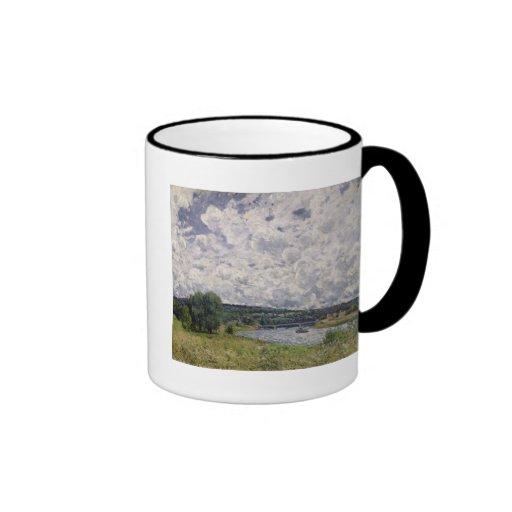 The Seine at Suresnes, 1877 Ringer Coffee Mug