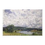 The Seine at Suresnes, 1877 Stretched Canvas Print