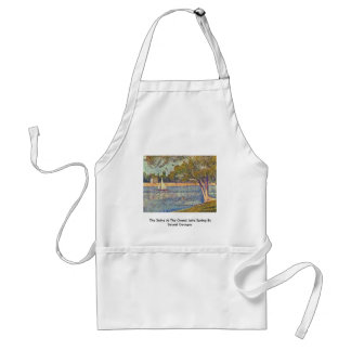 The Seine At The Grand Jatte Spring Adult Apron