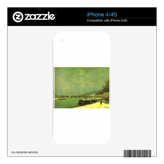 The Seine at the Pont d'Iena by Paul Gauguin Decal For The iPhone 4S