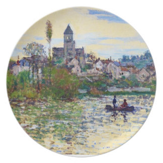 The Seine at Vetheuil  Claude Monet Dinner Plates